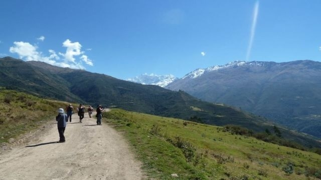 Walking along the Salkantay Trek