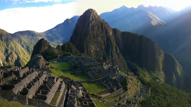 The face of Machu Picchu